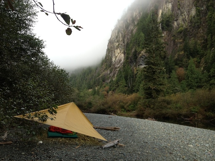 Camping on Clayoquot River